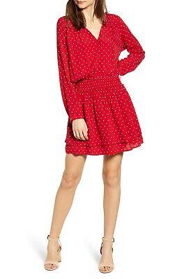 Rails Jasmine Dress in Scarlet Red Mini Polka Dot NWT $178 size M