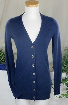 BRUNELLO CUCINELLI NEW! Navy Blue Cashmere Cardigan Sweater Pearl Buttons XL