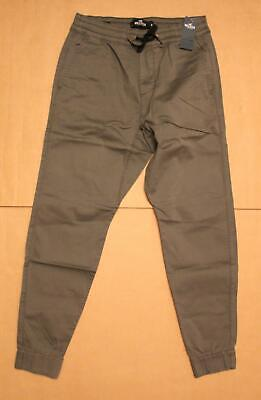 Hollister Men's Chino Skinny Jogger Pants SV3 Gray Small NWT