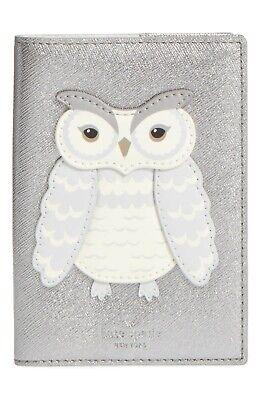 Kate Spade Star Bright Owl Leather Passport Holder PWRU6130 NWT 98$