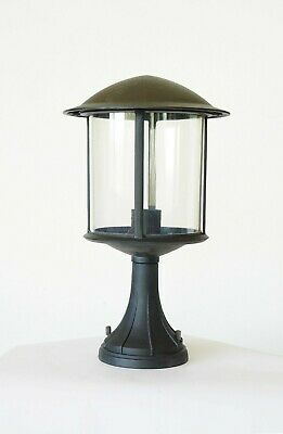 Pier Base (Black Outdoor Pier Mount Base Lighting Garden Porch Yard Fixture Lantern NI-112)