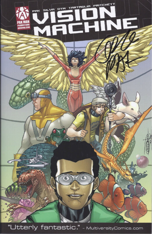 VISION MACHINE graphic novel AUTOGRAPHED Greg Pak!