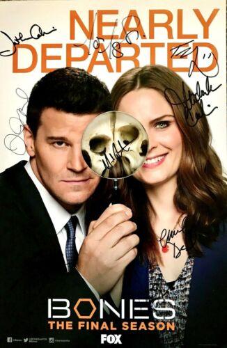 Bones cast signed auto autographed 2016 Comic-Con SDCC poster Boreanaz Deschanel