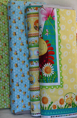 Henry Glass busy Bee fabric by yard or by Panel, super cute](Yard Glasses)