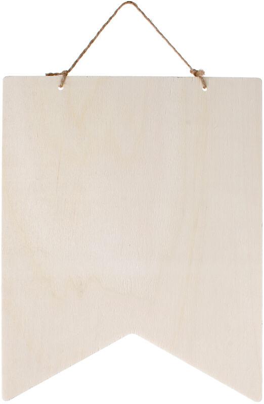 "Wood Wall Hanging Pentagon-10"""