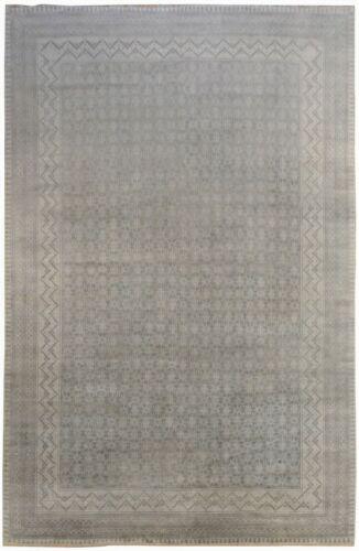 Terrific Transitional - Vintage Khanna Design - Grey Indian Rug  12 X 17.4 Ft.