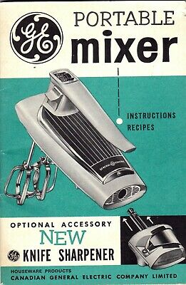 General Electric Portable Mixer 1970s Instruction Manual Kitchen Appliance c