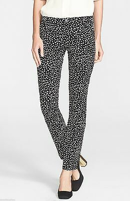 Womens Stretch Walker - New Tory Burch 'Walker' Print Slim Leg Stretch Jeans Womens Dotted Pony Size 25