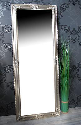 Schlafzimmer Spiegel (Spiegel Wandspiegel Badspiegel JANA  silber Barock 150 x 60 cm)