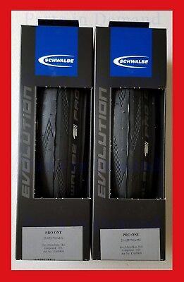fb1f5d2b885 2019 Schwalbe PRO ONE Tubeless TL Clincher 700 x 25 PAIR 2 Road Bike Tire  NEW