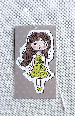 100 Hang Tags Rebes Creations Cute Doll Clothing Tags Hang Tags Plastic Loops