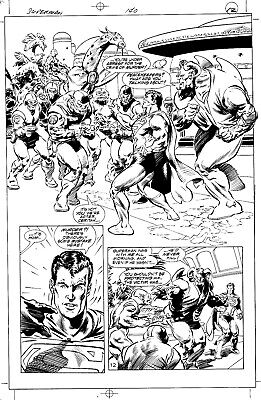 ORIGINAL ART SUPERMAN 140 page 12  TOM GRINDBERG