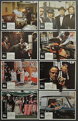 THE GODFATHER 1972 ORIGINAL 11X14 LOBBY CARD SET MARLON BRANDO AL PACINO