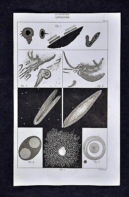 1859 Didot Prints x 2 - Comets Nebula Milky Way Star Clusters Galaxy Universe
