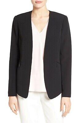 VINCE CAMUTO Zip Pocket Blazer - Black - Size US 12 - NWD