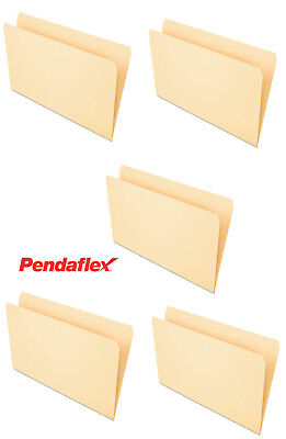 NEW Pendaflex 753 File Folders, Straight Cut, Top Tab, Legal, Manila 5 folders - Cut Legal Manila File