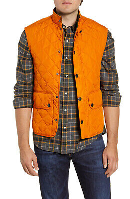 Barbour Lowerdale Quilted Gilet Vest Men's XL Marmalade NWT