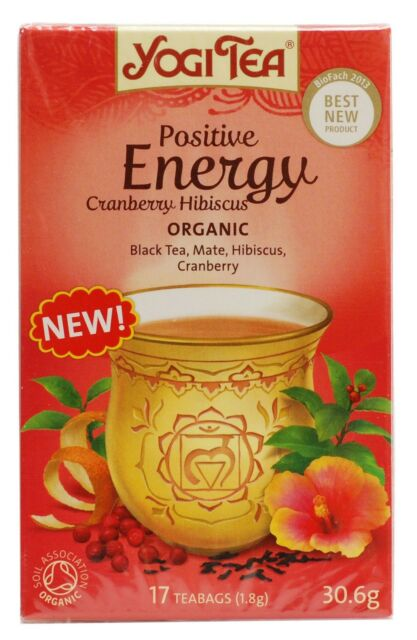 Yogi Tea Positive Energy Cranberry Hibiscus 17 Bag