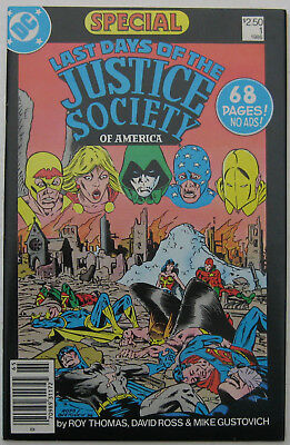 Last Days of the Justice Society Special #1 (1986, DC), VFN, 62 page JSA story