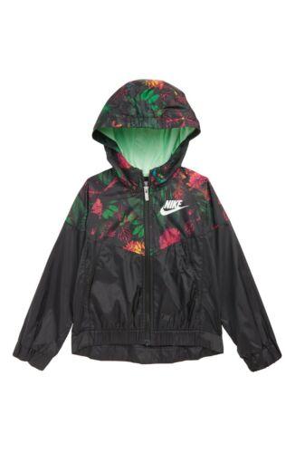 Nike Little Girls Glow Botanical-Print Zip-Up Jacket Size- 6X