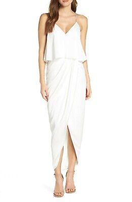 NWOT $295 Shona Joy Luxe Frill Tulip Hem Maxi Dress 6