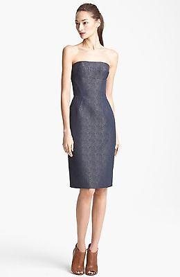 Lida Baday Strapless Jacquard Bustier Dress ( Size 6)