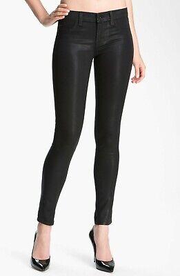 NWT J Brand 620 Super Skinny in Coated Stealth Black Stretch Jeans 31 $228