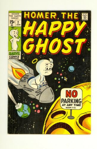 Homer The Happy Ghost #2 3.0 (OW/W) GD/VG Marvel Comics 1970 Bronze Age