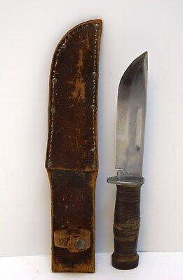 Vintage Original WWII Commando Cattaraugus 225Q Marine Knife with Sheath 5-3