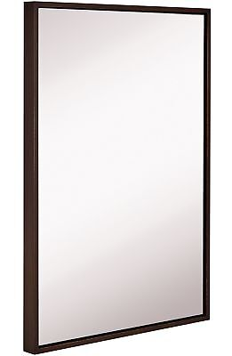 Clean Large Modern Wenge Frame Wall Mirror | Contemporary Premium Silver Back...