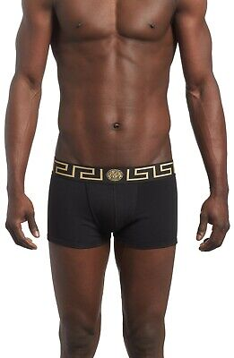 Versace Collection Black and Gold Low Rise Trunks Men's Size 7 9813