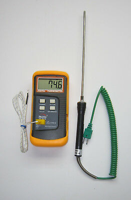 Digital K-type Thermocouple Thermometer 8 Stainless Steel Insertion Probe Tc4