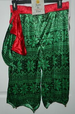 NWT JOE BOXER men's Green Red CHRISTMAS ELF JAM SHORTS + HAT Bells Set Outfit  M - Mens Elf Outfit