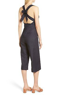 Peter Som Romper Jumpsuit Pants shorts Palermo Olivia Black Red White Stripe M