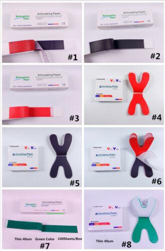 1Box Dental Articulating Paper Blue/Red Horse Shoe For Porcelain Denture Teeth