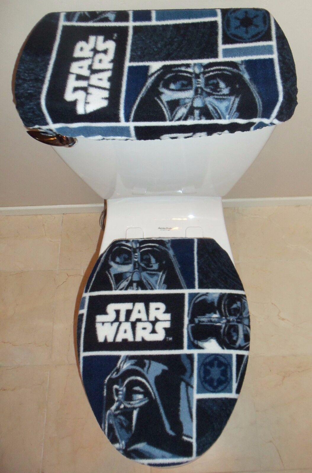Star Wars Darth Vader Fleece Fabric Toilet Seat Cover Set Bathroom .