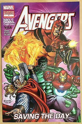 Marvel Custom Edition Avengers Navy Federal Credit Union Comic Book  1 Of 1 Rare