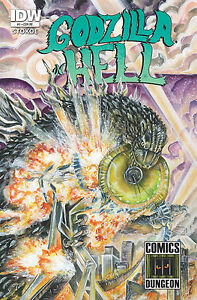 GODZILLA IN HELL #1 Exclusive Comics Dungeon Variant! Only 1200!
