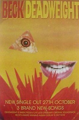"""MUSIC POSTER~Beck Deadweight 1996 Odelay Original NOS 20x30"""" Grammy Winner Rare~"""