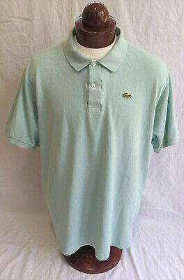 LACOSTE Short Sleeved, all Cotton Polo, Soft Green, Mens Lacoste sz 9 (US 4XL)
