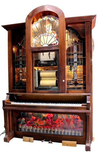 Antique Hobart & Coinola Player Piano w/ Rolls Collection & Vintage Additions