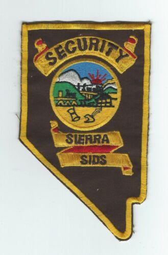 VINTAGE SIERRA SIDS SECURITY, LAS VEGAS, NEVADA patch