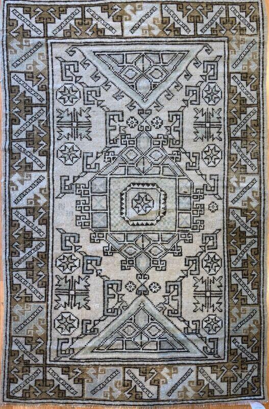Opulent Oushak - 1910s Vintage Turkish Rug - Tribal Carpet - 4 X 6.5 Ft.