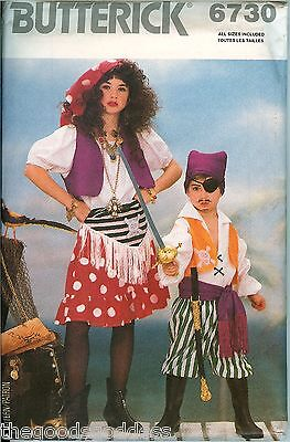 Boy Gypsy Costume (Butterick 6730 CHILD Girl Boy Pirate Swashbuckler Gypsy Costume Pattern)
