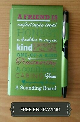 Free Engraving Personalized Friend Flipnotes Notebook Notepad W Pen