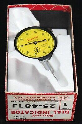 Starrett Dial Indicator 25-481j - 0-100 - .01mm - Nice