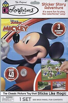 Colorforms Disney Junior Mickey Mouse Sticker Story Adventure New Sealed