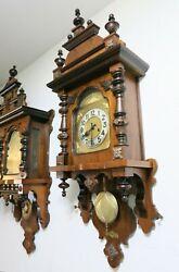 Antique German Gustav Becker free swinger wall clock Vienna regulator 1900