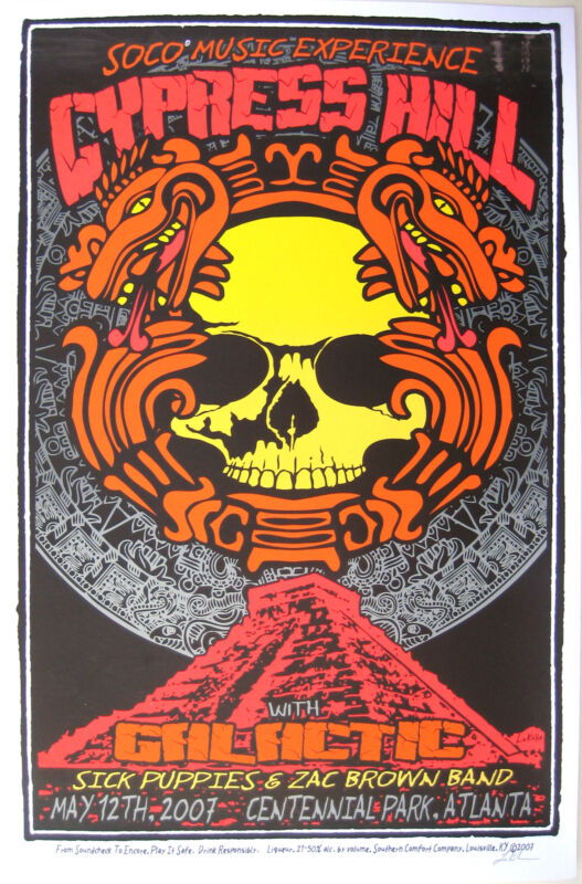 Cypress Hill Concert Poster 2007 S/N by Lindsey Kuhn