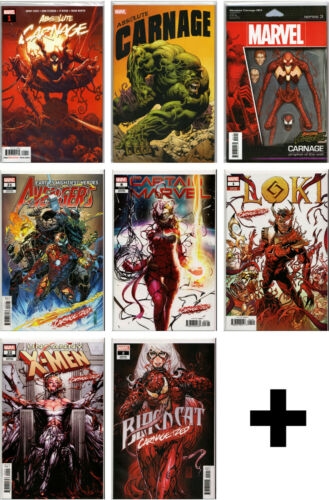 ABSOLUTE CARNAGE #1,2,3,4,5+  & CARNAGE-IZED COMICS ~ Variant Exclusive Marvel